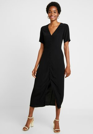ENJOHN LONG DRESS - Košilové šaty - black