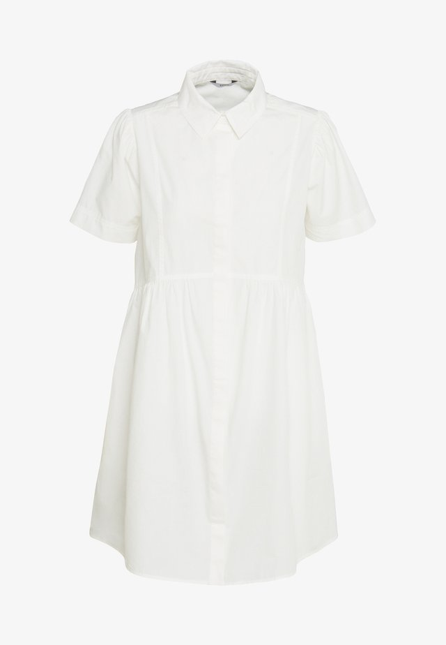 PETRA DRESS - Shirt dress - white