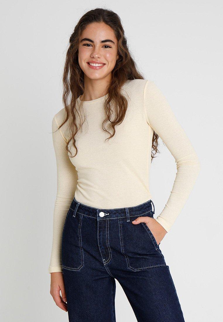Envii - ENVELDA TEE - Langærmede T-shirts - lemon curd