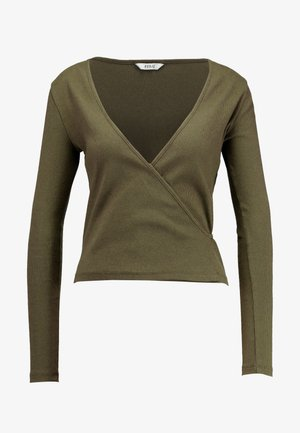 ENALLY - Long sleeved top - olive night