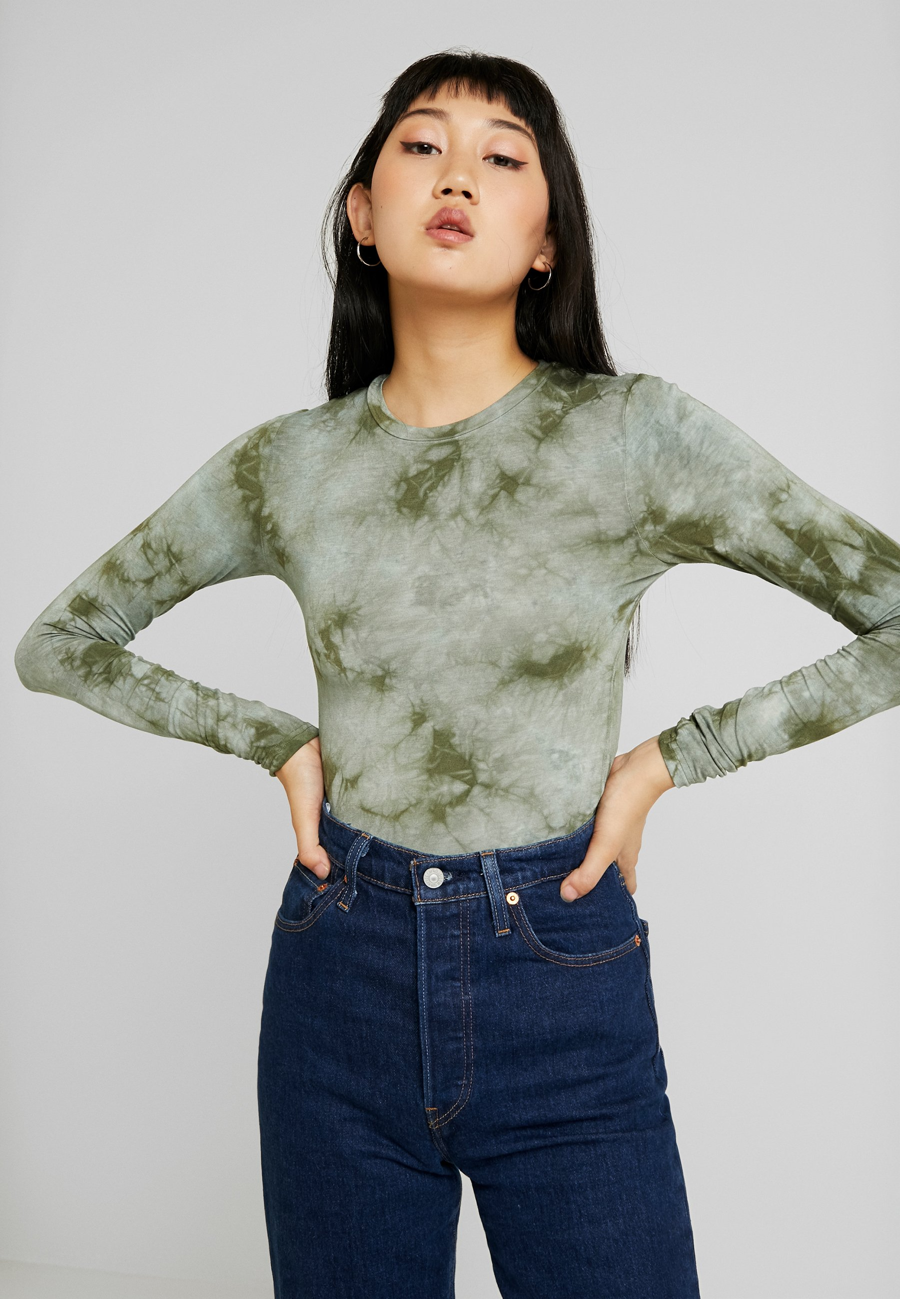 Dye EnrattvikT Manches Longues Olive Envii shirt Tie À zMqpSVU