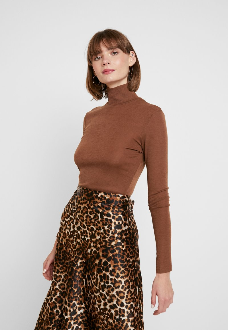 Envii - ENVILLY T NECK - Long sleeved top - toffee