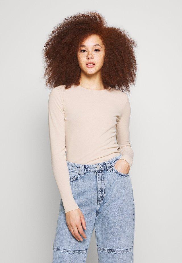 ENVELDA TEE - Long sleeved top - doeskin