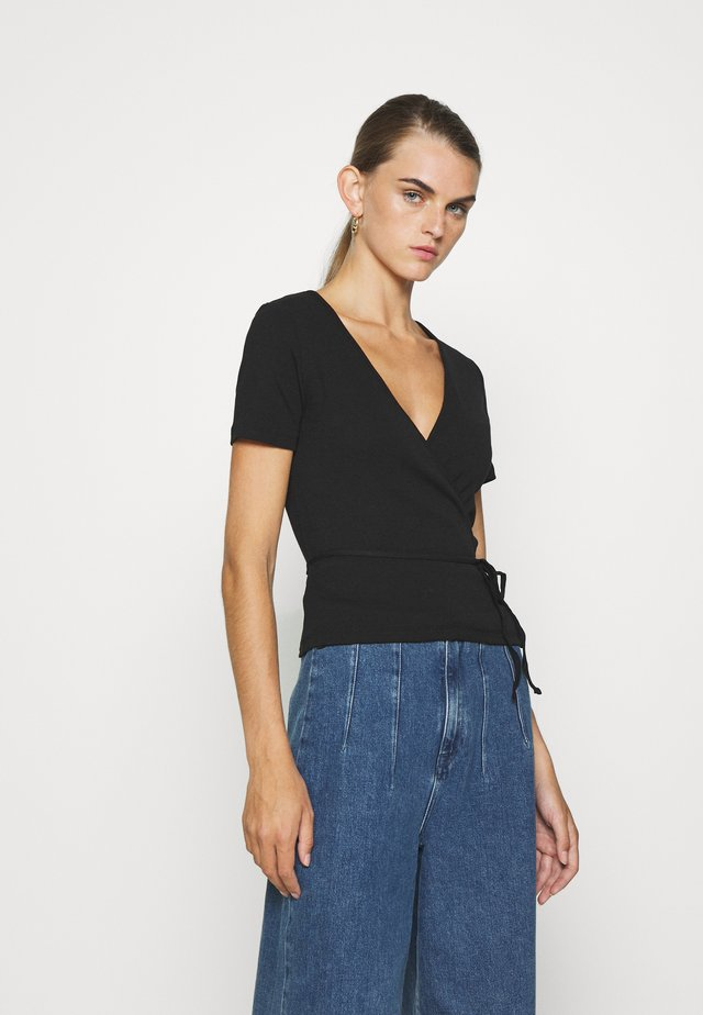 ENALLY TEE - T-shirt con stampa - black