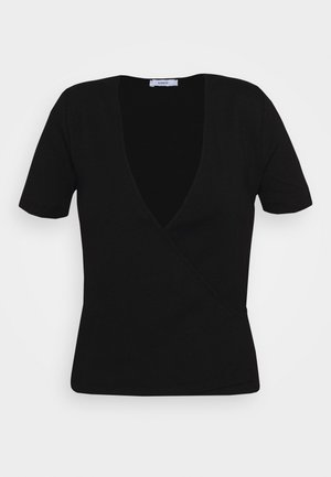 ENALLY TEE - Print T-shirt - black