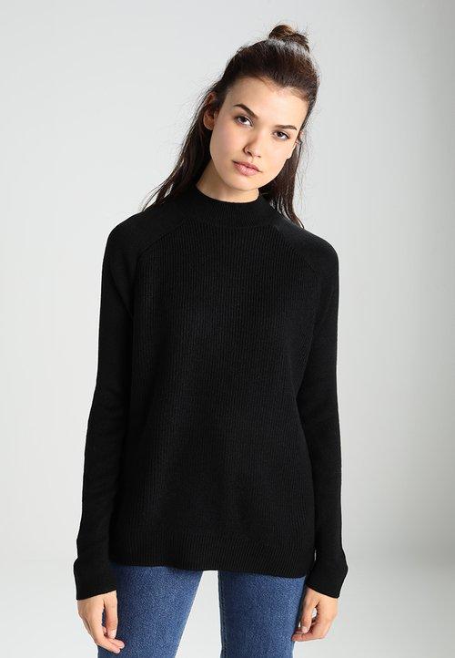 60% ZNIŻKI Envii ENNICOLINE - Sweter - black Odzież Damska UVZI-KP3
