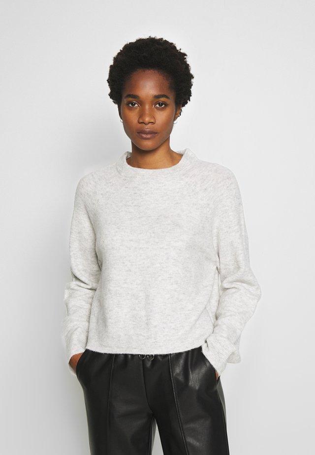 ENSOYA - Stickad tröja - grey melange