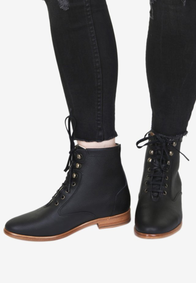 DESERT - Lace-up ankle boots - black