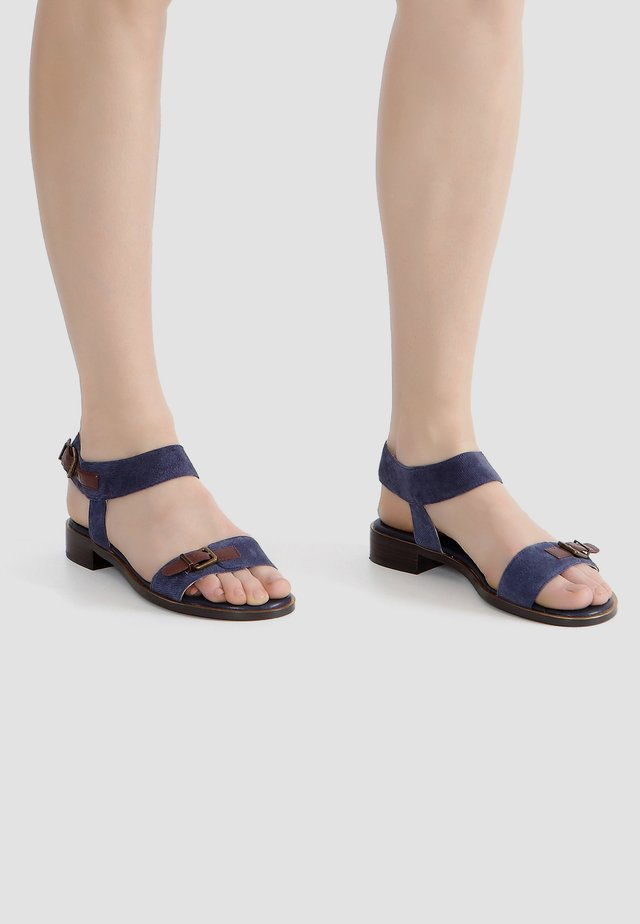 Sandals - denim-marrone