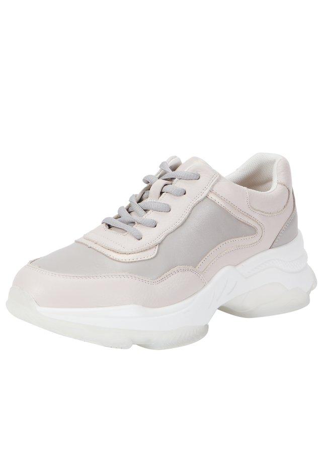 MIT SCHNÜRUNG - Sneakers laag - light beige-light grey