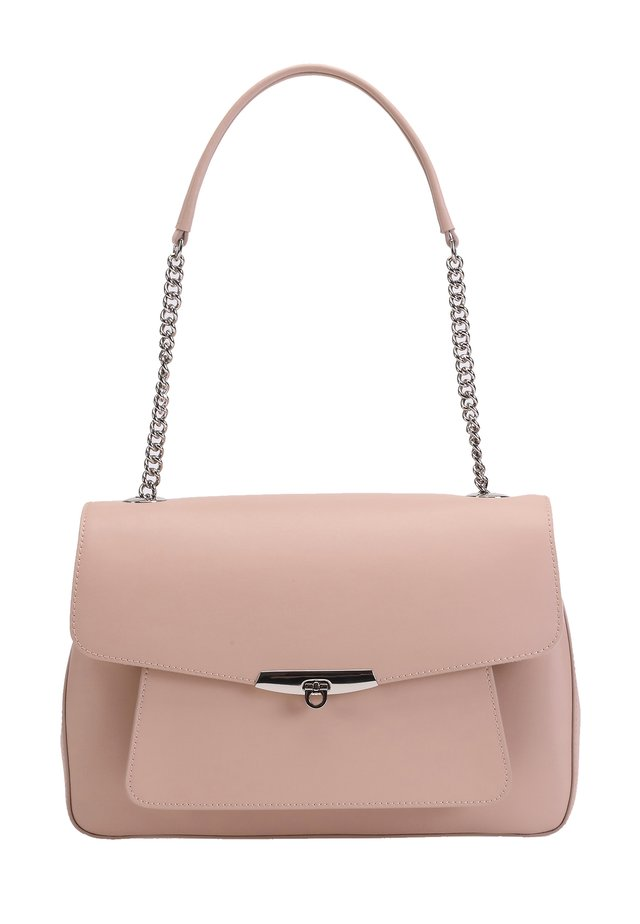 MIT AUFSATZKLAPPE - Handbag - light pink