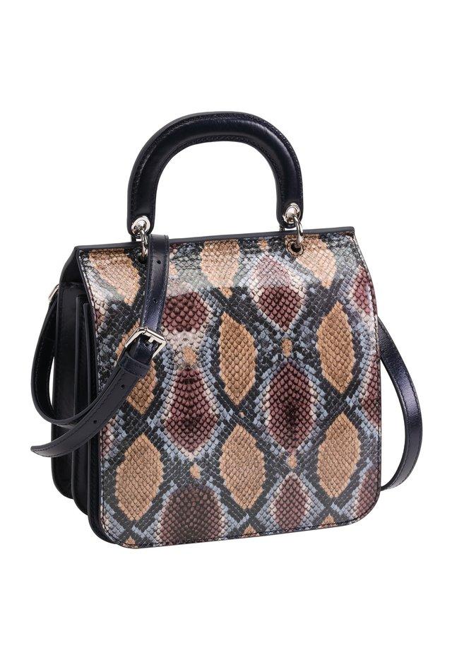 Handtasche - dunkelblau-mehrfarbig