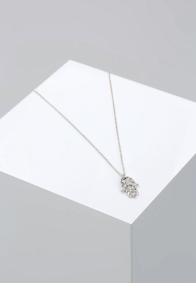HAMSA HAND - Necklace - silver-coloured