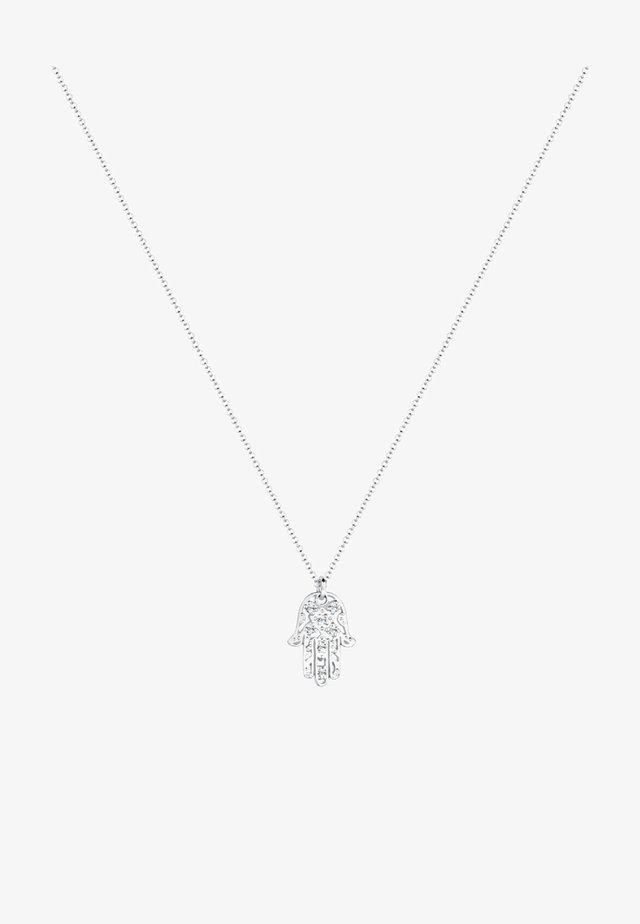 HAMSA HAND - Halsband - silver-coloured