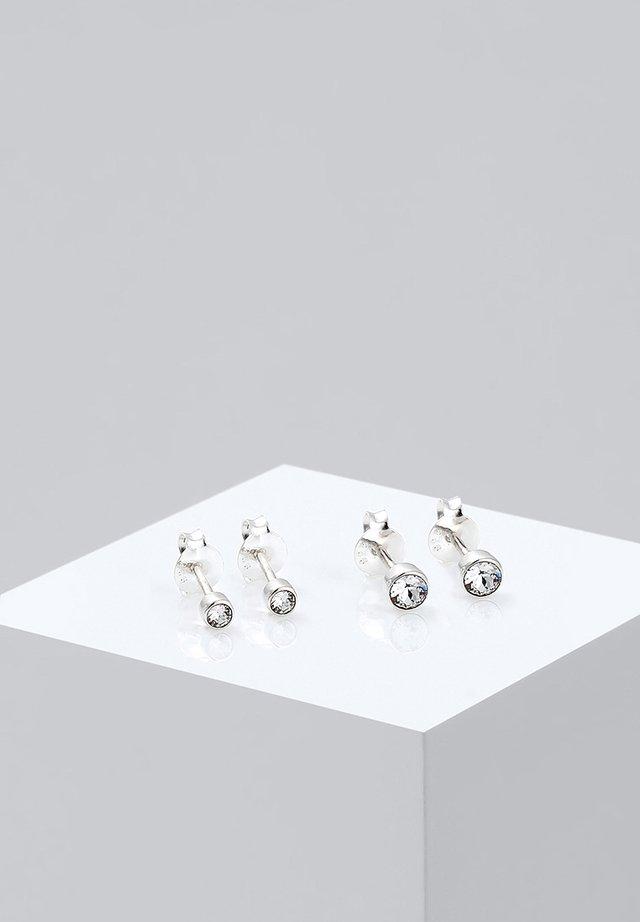 2er Pack Stecker - Örhänge - silver-coloured