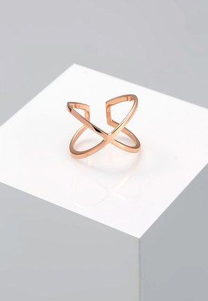 KREUZ - Ring - roségold-coloured