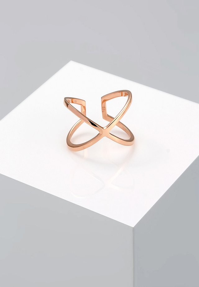 KREUZ - Ring - roségold-coloured