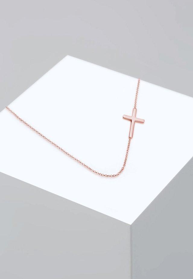 KREUZ  - Halskette - rosegold-coloured