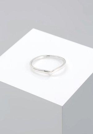BASIC V-FORM - Bague - silver-coloured