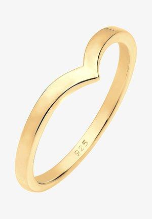 BASIC V-FORM - Ring - gold-coloured