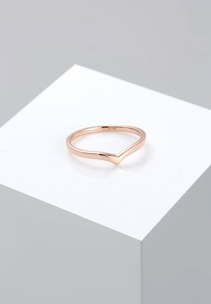 BASIC V-FORM - Ring - roségold-coloured