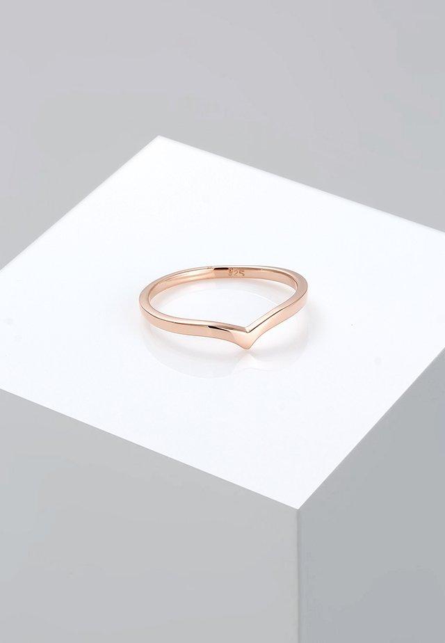 BASIC V-FORM - Ringe - roségold-coloured