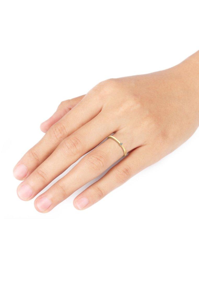 Elli - SOLITÄR - Ring - gold-coloured/white