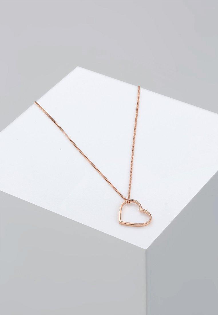 Elli - HERZ - Halskette - roségold-coloured