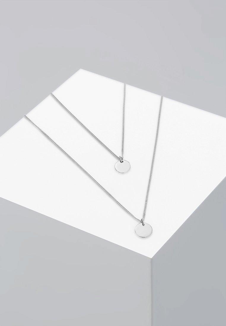 Elli - LAYERING PLÄTTCHEN - Necklace - silver-coloured