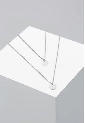 LAYERING PLÄTTCHEN - Halskette - silver-coloured