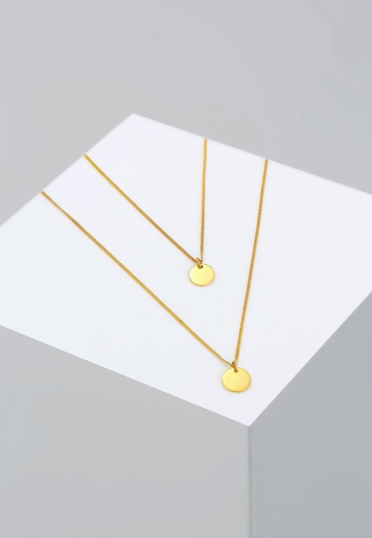 Elli - LAYERING PLÄTTCHEN - Necklace - goldfarben