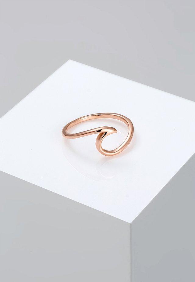 WELLEN - Ringe - rosegold-coloured