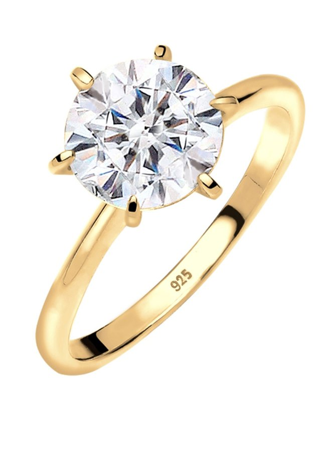 VERLOBUNG ELEGANT - Ringe - gold-coloured/white