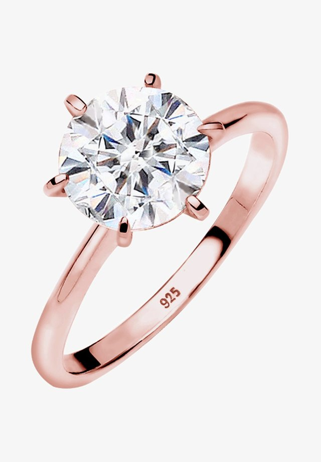 VERLOBUNG ELEGANT - Ring - rosegold-coloured/white