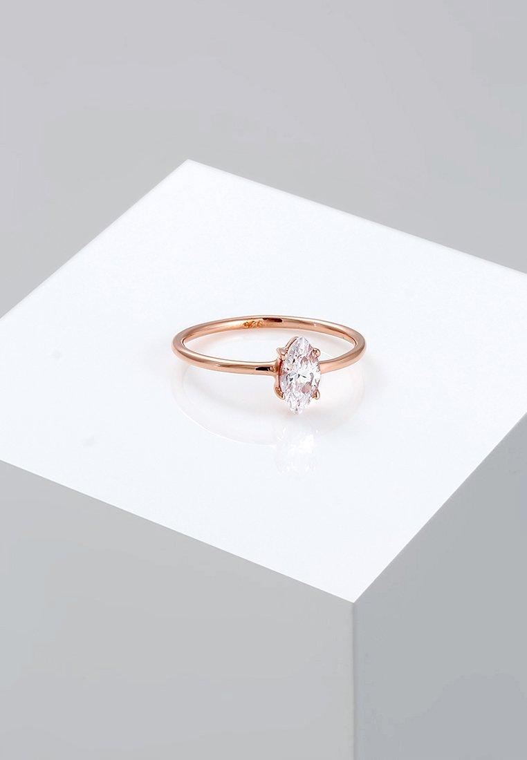 Elli - MARQUISE - Ring - rosegold-coloured/white