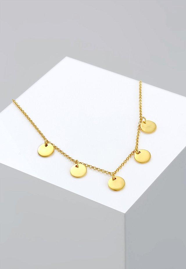 PLÄTTCHEN - Halskette - gold-coloured