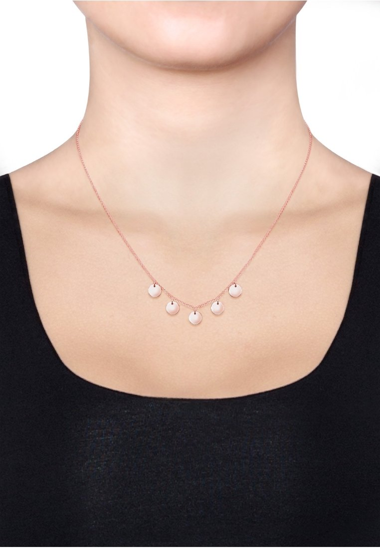 Elli - PLÄTTCHEN - Necklace - rosegold-coloured