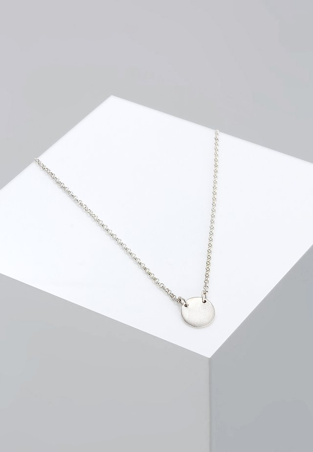 Kreis Plate - Necklace - silver-coloured