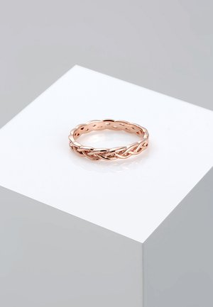 Unendlich Knoten - Ring - rosegold-coloured