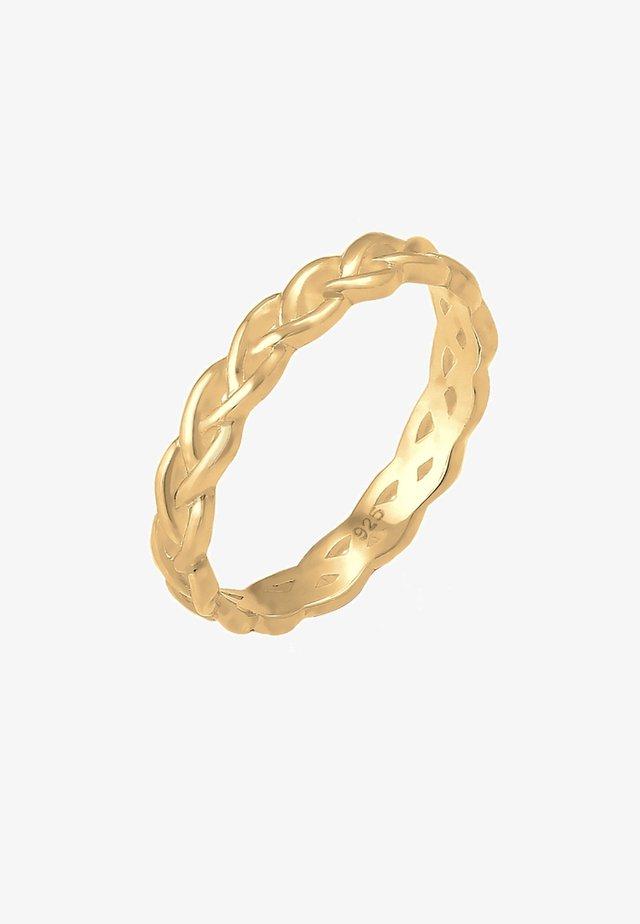 Unendlich Knoten - Ringe - gold-coloured