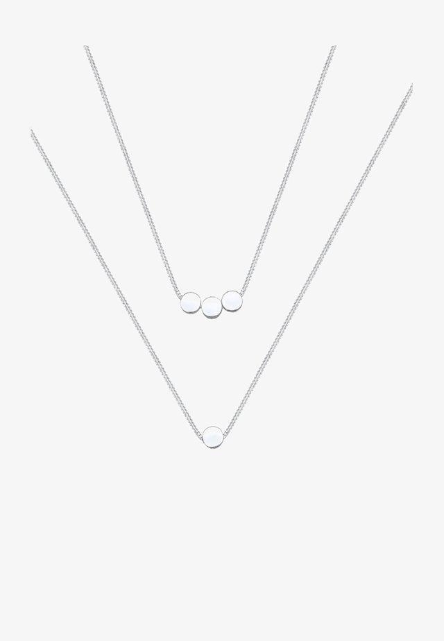 PLÄTTCHEN - Halsband - silver-coloured