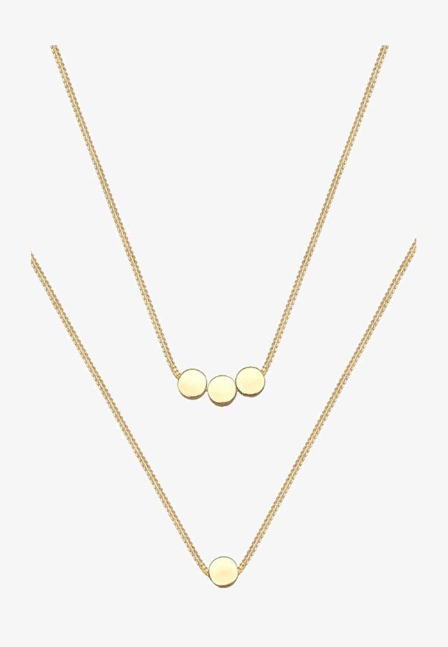 PLÄTTCHEN - Halsband - gold-coloured