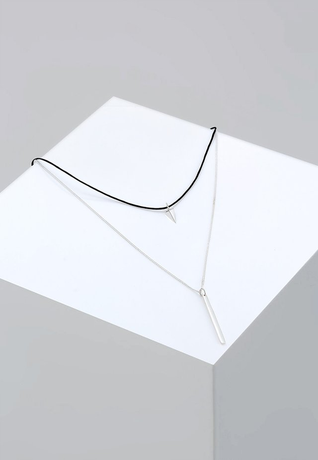 CHOKER - Ketting - silver-coloured/black