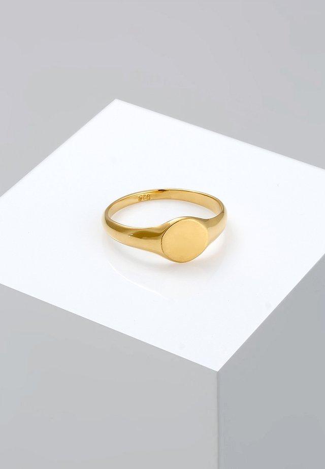 SIEGELRING ROYAL MATT - Ringe - gold-coloured