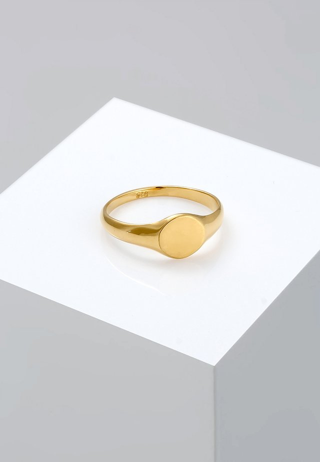 SIEGELRING ROYAL MATT - Pierścionek - gold-coloured