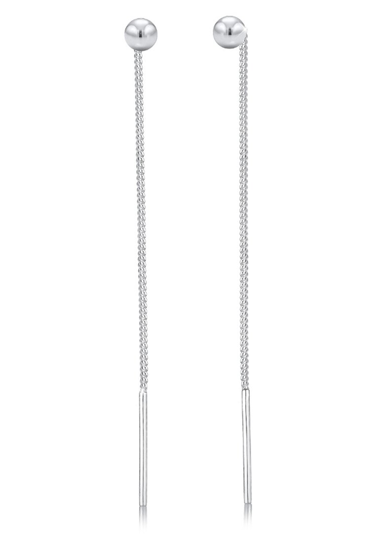 Elli Geo Kugel - Øreringe Silver-coloured
