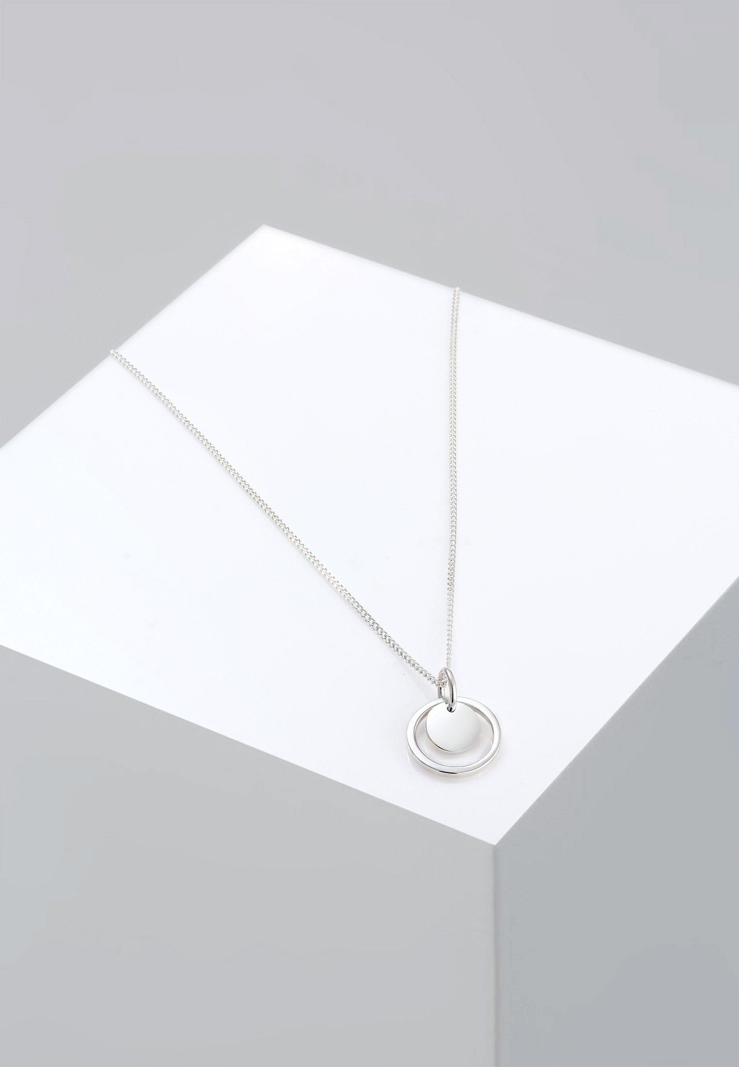 Silver Elli Kreis coloured GeoCollier Rund jL3q5R4A