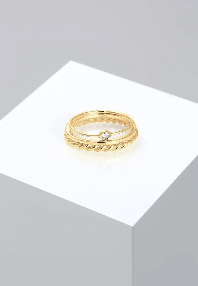 Pierścionek - gold coloured