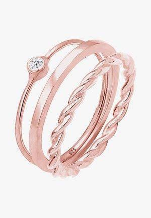 3 SET SOLITÄR - Ring - rose gold-coloured