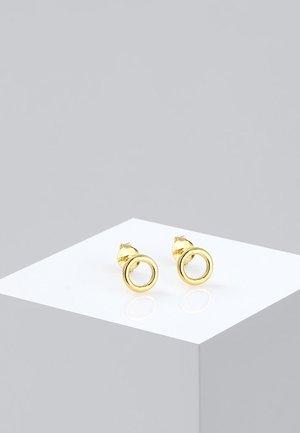 KREIS RUND  - Oorbellen - gold-coloured